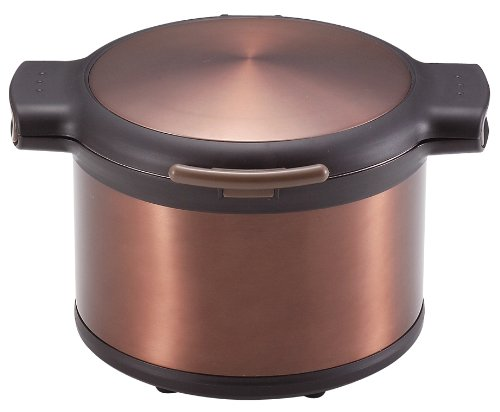 パール金属 エコック 真空 保温 調理 鍋 3.2L ブラウン H-8100