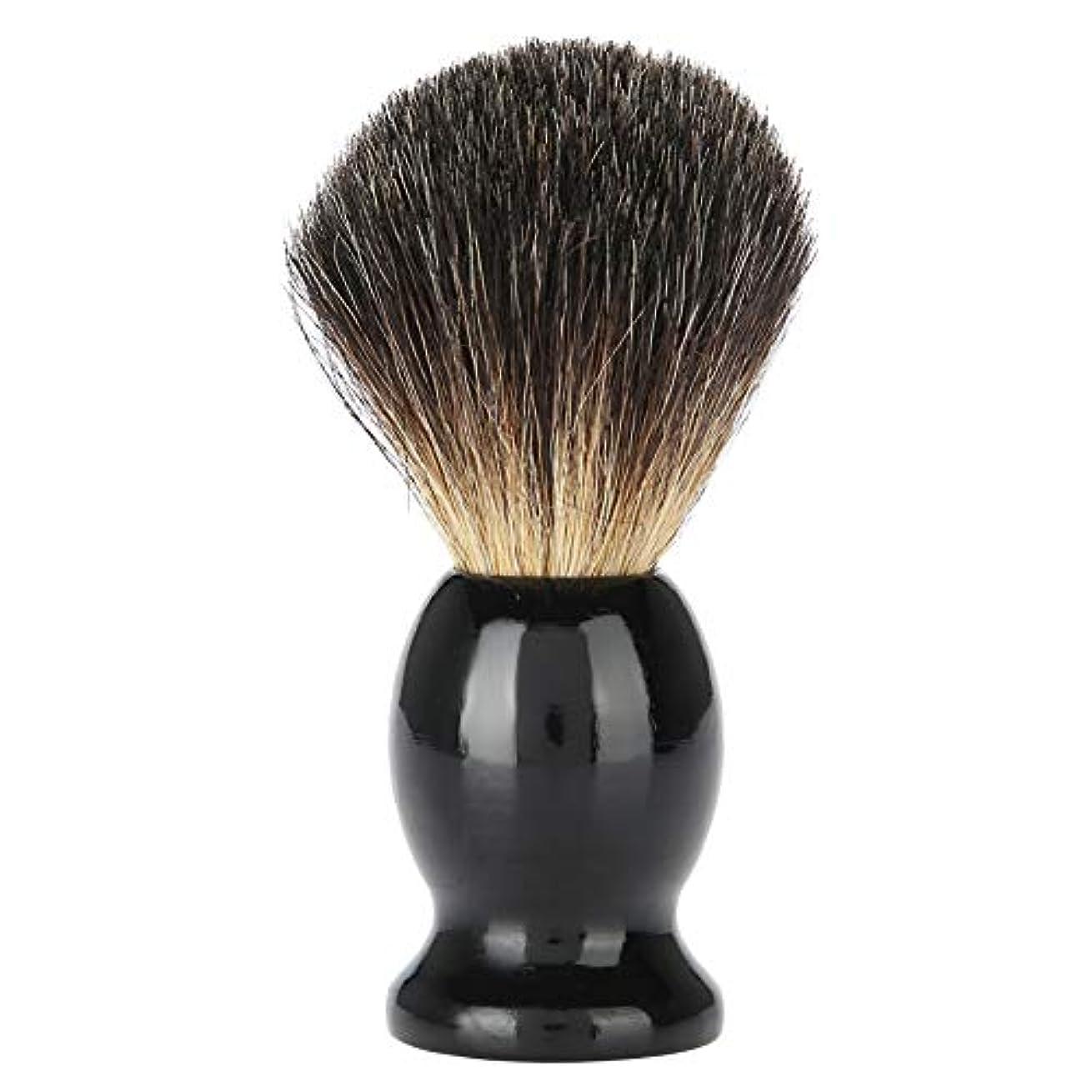 パドル中央値国Qinlorgo シェービングブラシ メンズ シェービングブラシ 木製あごひげクリーニングブラシ 髭ブラシ 男性用シェービング用