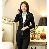 XuBa Professionan Formal Uniform Deisgn Female Pantsuits with Blazer + Pants Ladies Trousers Sets Office Blazers