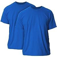 Gildan Mens G2000P2 Ultra Cotton Adult T-Shirt, 2-Pack Short Sleeve T-Shirt