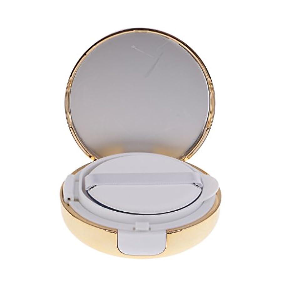 誠実さ捨てる位置するKesoto メイクアップ 空パウダーコンテナ ファンデーションケース エアクッション パフ BBクリーム 詰替え 化粧品 DIY プラスチック製 2色選べる - ゴールド