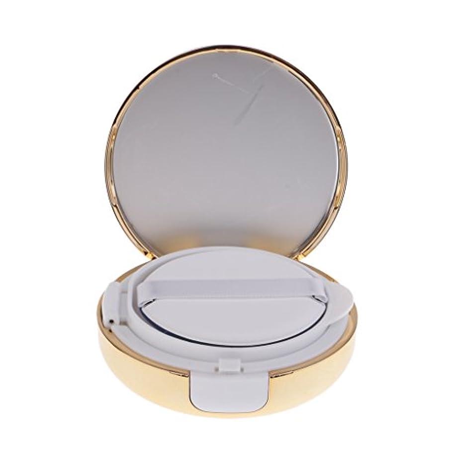 触覚特権的ストロークKesoto メイクアップ 空パウダーコンテナ ファンデーションケース エアクッション パフ BBクリーム 詰替え 化粧品 DIY プラスチック製 2色選べる - ゴールド