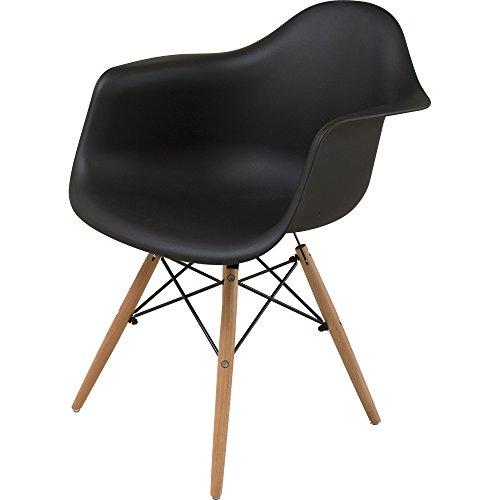 椅子 イームズチェア 肘付き デザイナーズ リプロダクト ブラック PP-620