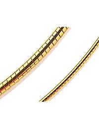 オメガ チェーン チョーカー ネックレス 真鍮 イエローゴールド メッキ 太さ 2mm 40cm