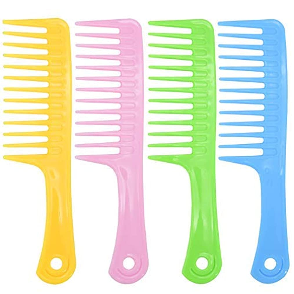 Ancefine 8 Pieces Large Tooth Detangle Comb Anti-static Wide Hair Salon Shampoo Comb for Thick,Long and Curl Hair...