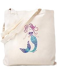 CafePress – Tribalマーメイド – ナチュラルキャンバストートバッグ、布ショッピングバッグ S ベージュ 1292161267DECC2