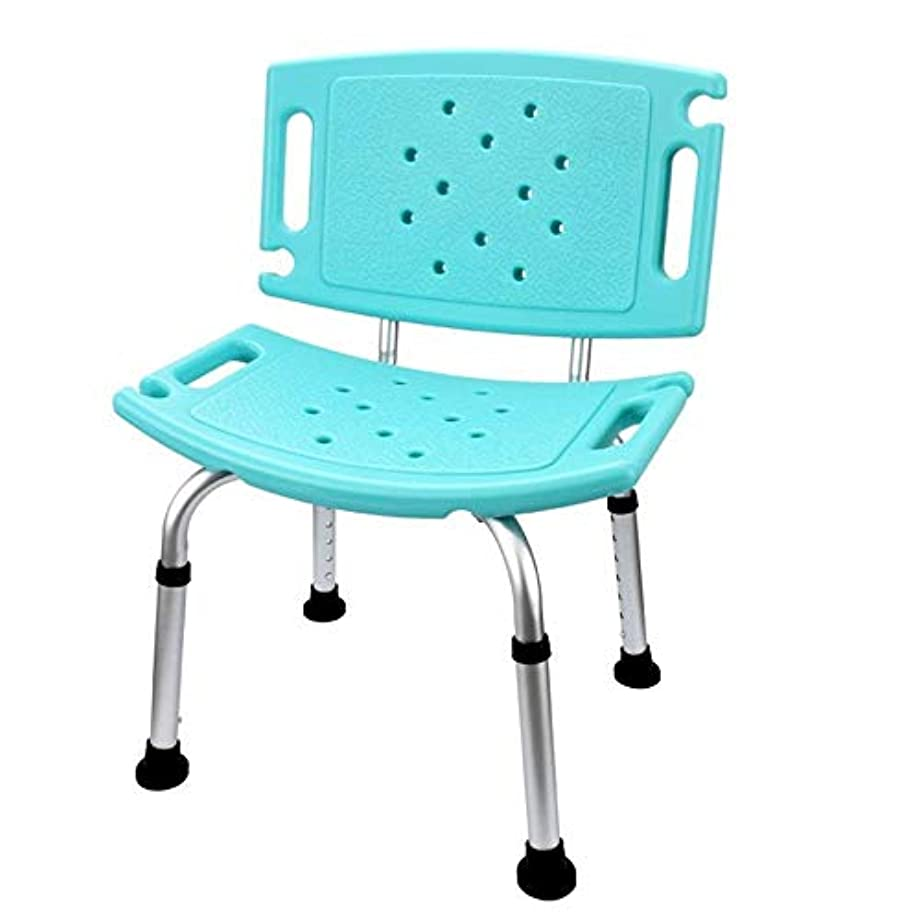 浸食地震寄付する背部およびシャワー?ヘッドのホールダーが付いているデラックスな高さの調節可能なアルミニウムBath/シャワーの椅子