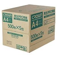 クラウン 再生コピー用紙 A4 500枚×5包 CR-KPA4R-N