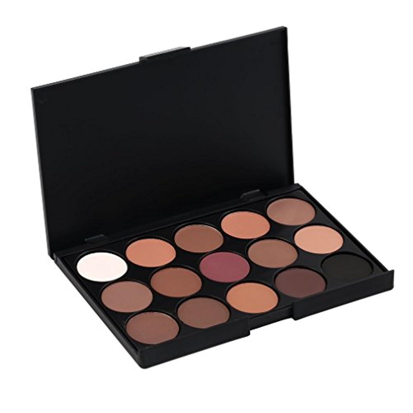 発疹伝導率普遍的なビューティアイシャドウラスティング女15色のプロフェッショナル化粧品アイシャドウ顔料メイクアップパレットナチュラルロング