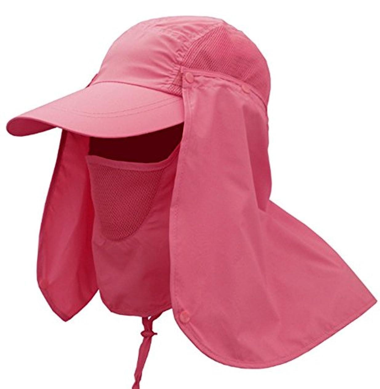 分離めまい増加するEternal Wings UVカット 帽子 取り外し可能 アウトドア 農作業用 帽子 UVカット フェイスカバー付き ガーデニング 釣り 登山 首までガード 紫外線 熱中症対策に 9色