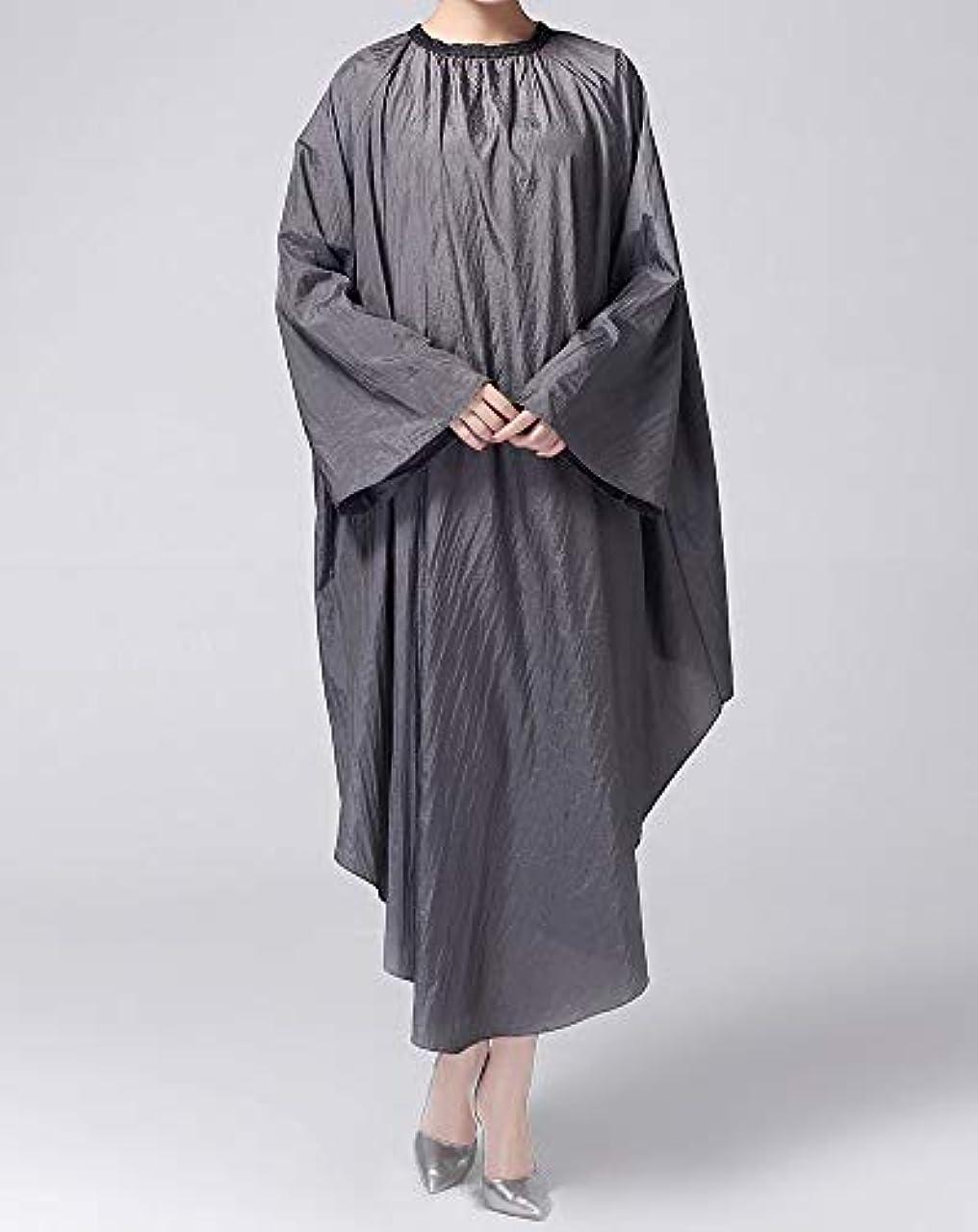大胆不敵一般的に分離するHIZLJJ ヘアカット理髪サロンケーププロフェッショナル防水ナイロン美容院理髪店ケープガウン (Color : Gray)