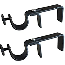 NONO Bracket - Curtain Rod Bracket Attachment for Outside Mount Vertical Blinds (Black)