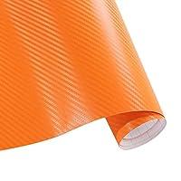 カーアクセサリーを詳述152センチメートル* 10センチメートル3Dylフィルムカー防水カースタイリングラップの自動車:オレンジ