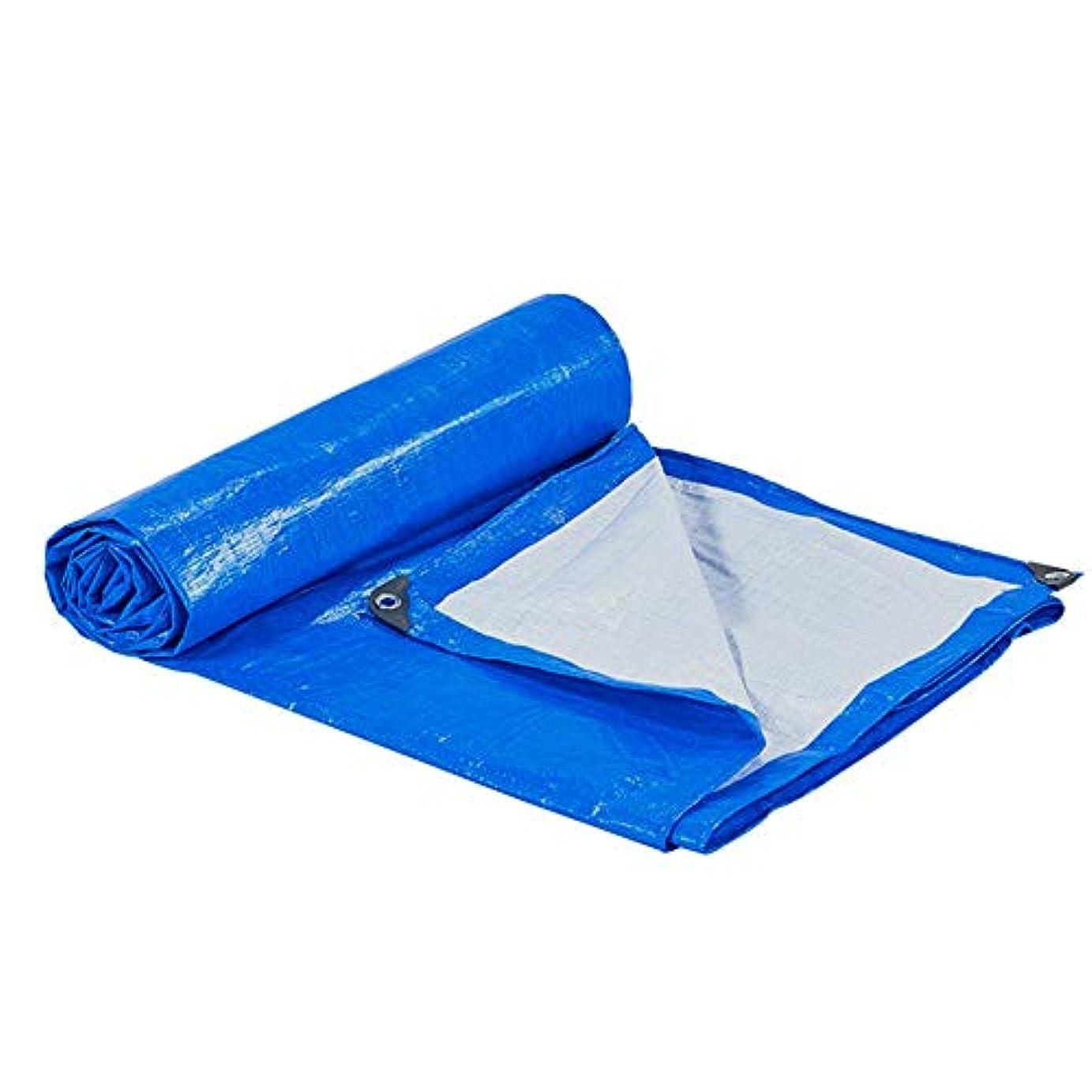 こどもセンター知覚できる可能にする12J-weihuiwangluo 防水布防水防水シートレインカバーカーゴトラックレインサンサンシェードアンチエイジング折りたたみ (Color : Blue+white, サイズ : 4x6M)