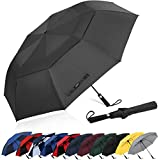 G4Free 62inch Portable Golf Umbrella Automatic Open Large Oversize Vented Double Canopy Windproof Waterproof Sport Umbrellas