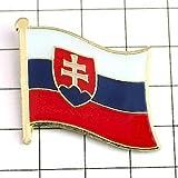 ピンバッジ スロヴァキア国旗デラックス薄型キャッチ付スロバキア紋章 SLOVAKIA FLAG ピンバッチ