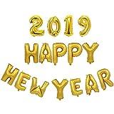 Ochine バルーン 風船セット アルミバルーン 飾り付け 新年 忘年会 クリスマス パーティー デコレーション 2019 HAPPY NEW YEAR 数字