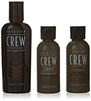 アメリカンクルー Travel Grooming Kit: Men Classic 3-IN-1 Shampoo, Conditioner & Body Wash 100ml + Precision Shave Gel 50ml + Post Shaving Cooling Lotion 50ml 3pcs