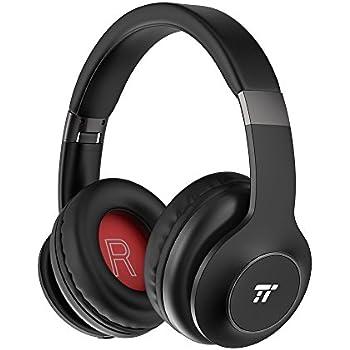TaoTronics Bluetooth ヘッドホン 密閉型ヘッドホン マイク付き 折りたたみ式 最大24時間再生 高音質 EQベース 40mmドライバ CVC6.0 有線無線兼用 内蔵マイク ハンズフリー マルチペアリング TT-BH045
