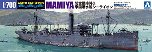 アオシマ 1/700 給糧艦 間宮&米潜水艦シーライオン