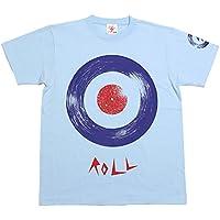 ROLL ( ロール ) Tシャツ ( ライトブルー ) - LPR×BPGT - a08tee-lbu -G-( モッズ ROCK ロック レコード )