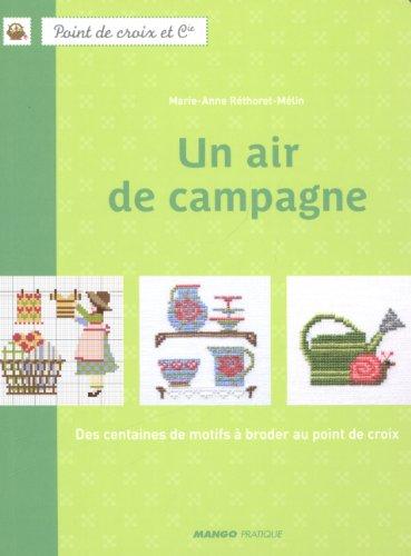 MANGO 「UN AIR DE CAMPAGNE」 クロスステッチ図案・作品集-フランス語