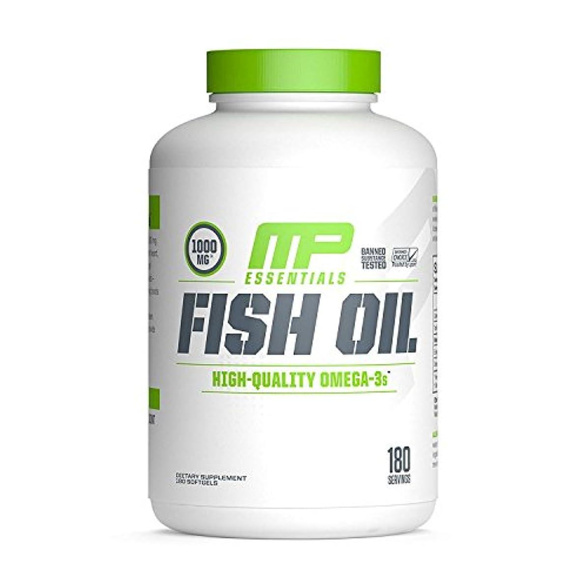 塗抹側面典型的な海外直送品 MusclePharm, Fish Oil Essentials 180 Servings [並行輸入品]