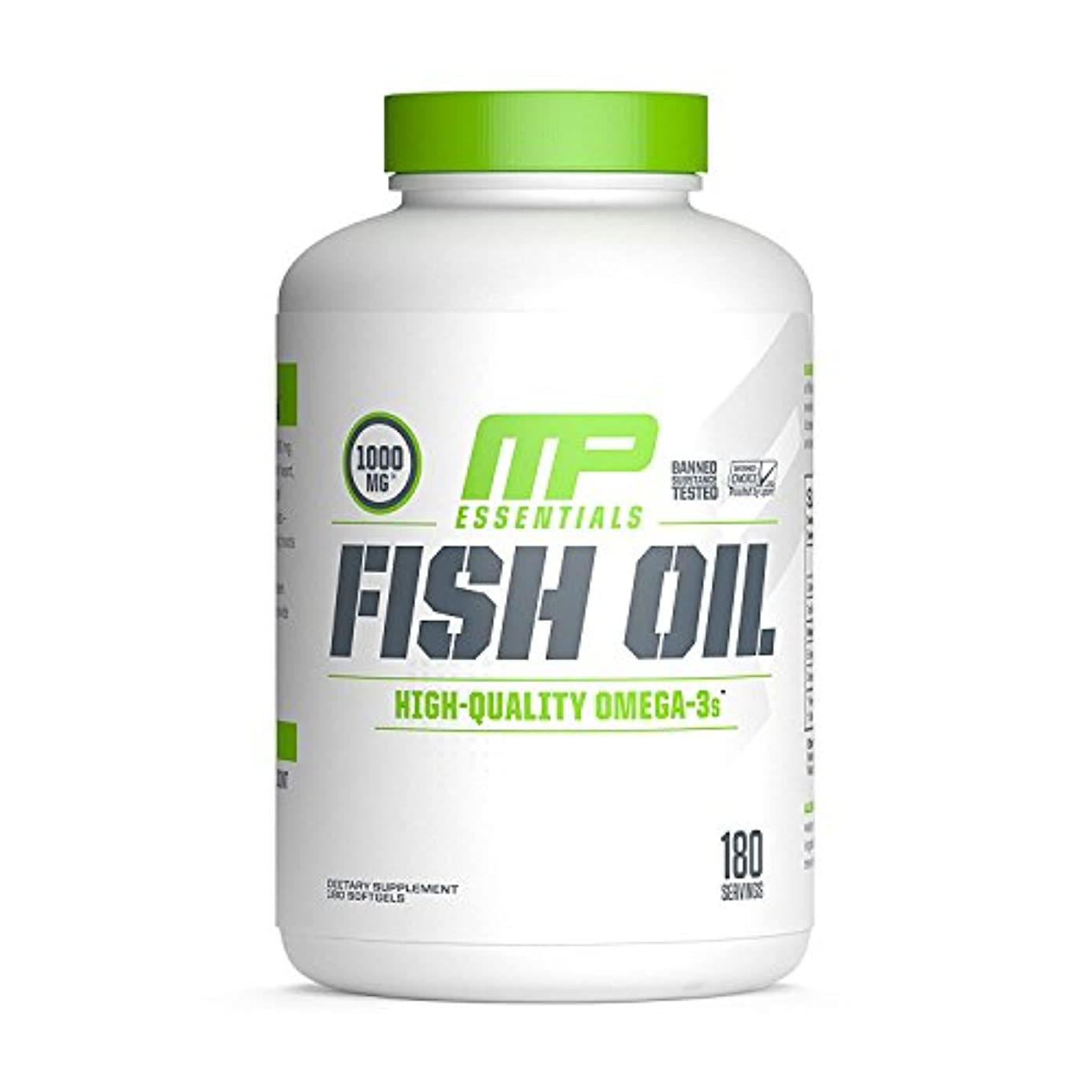焦がす厳しい猫背海外直送品 MusclePharm, Fish Oil Essentials 180 Servings [並行輸入品]