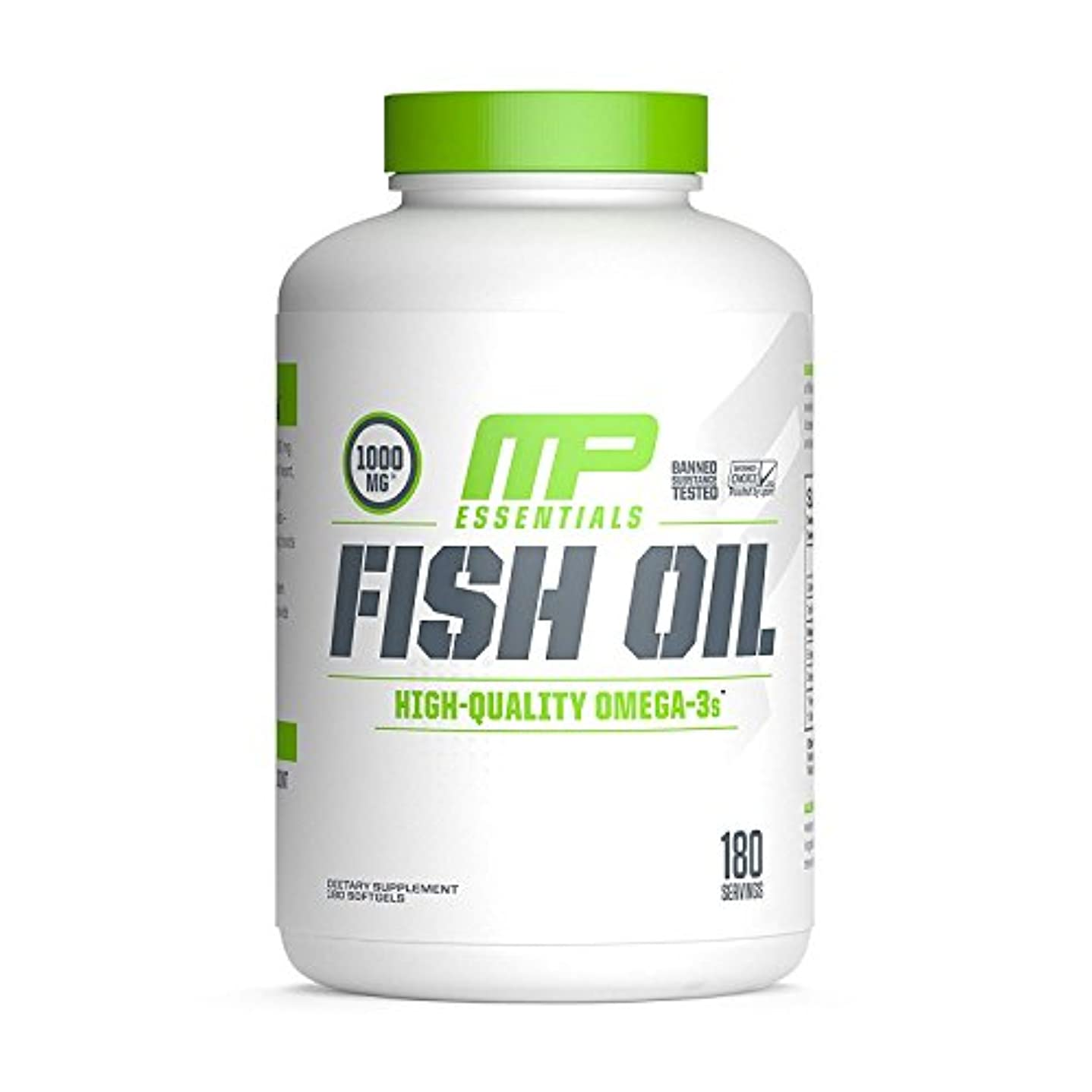 フレッシュ後世廃止する海外直送品 MusclePharm, Fish Oil Essentials 180 Servings [並行輸入品]