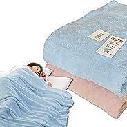 メーカー直販 今治タオルケット ダブル 180×230cm 日本製 無地 パイルが抜けにくい 洗える 綿マイヤー織り 今治タオルブランド認定 (ブルー)