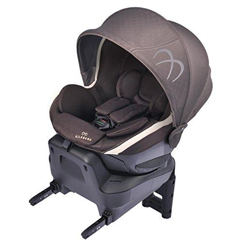 カーメイト エールベベ クルット3i プレミアム 新生児から4歳用チャイルドシート ISOFIX取付(ナチュラルフラット仕様360度回転型) マロンブラウン BF841