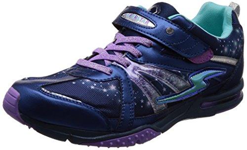 [スーパースター] 運動靴 通学履き バネ バネのチカラ パワーバネ 軽量 マジック ゆったり SS J801 ネイビー 200(20 cm) 2E