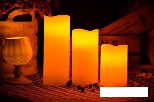 【ノーブランド品】癒しの光 ledキャンドルライト リモコン付き 3個セット