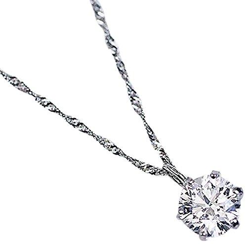 【KASHIMA】プラチナ900 0.3カラット ダイヤモンド 一粒石 プチ ペンダント
