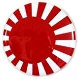 【ノーブランド品】 缶バッジ 日章旗 日本 直径38mm 裏ピン