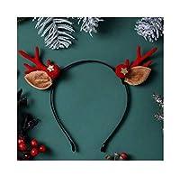 HCXD クリスマスカチューシャ子供のギフトジュエリーヘアアクセサリー小アントラーズ帽子の飾りかわいいエルクヘアピンぬいぐるみカチューシャブラウンアントラーズエルクヘッドバンド(利用可能な複数のスタイル) クリスマスの帽子 (スタイル : 8#)