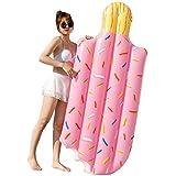 夏の浜のアイスクリーム型の浮遊列、膨脹可能なポリ塩化ビニールの保証水泳の浮遊物、大人の寝椅子、196 x 86 cm