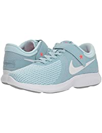 [NIKE(ナイキ)] レディーステニスシューズ?スニーカー?靴 Revolution 4 FlyEase Ocean Bliss/White/Glacier Blue/Solar Red 10 (27cm) B - Medium