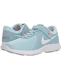 [NIKE(ナイキ)] レディーステニスシューズ?スニーカー?靴 Revolution 4 FlyEase Ocean Bliss/White/Glacier Blue/Solar Red 6.5 (23.5cm) B...