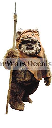 ewock Ewok Wicket W。Warrick Rebel Alliance EndorスターウォーズクラシックEpisode VI Return of the Jedi取り外し可能な壁デカールステッカーアートホームデコレーションKids room-3?3?/ 4インチ高さ8?1?/ 4インチ