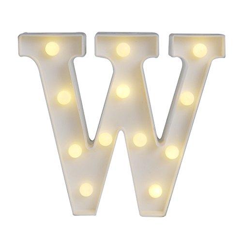 LED イルミネーション イニシャルライト アルファベットライト ホームイベント インテリア ギフト (W)