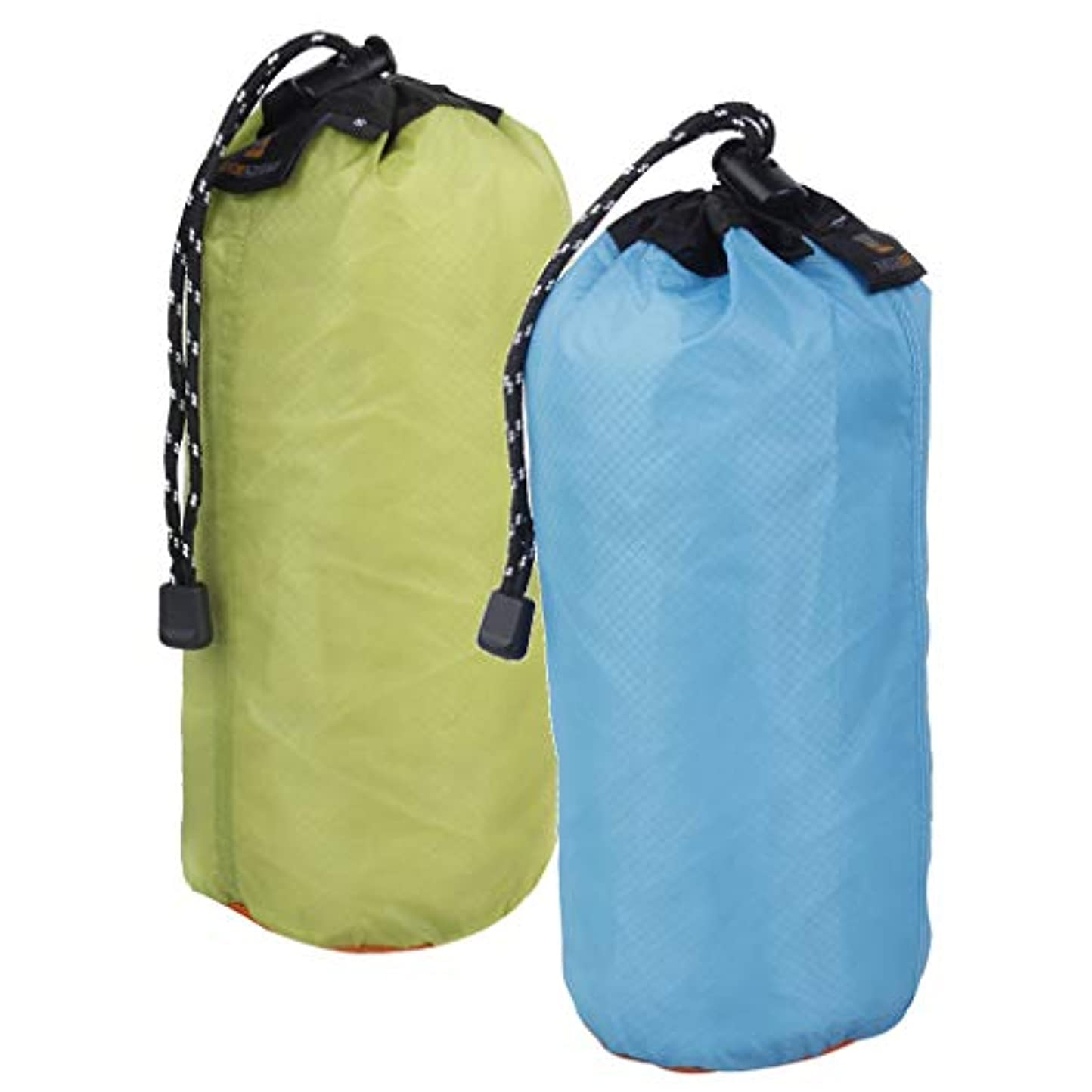 perfk ナイロン アクセサリー 2本 超軽量 巾着収 納袋ポーチ ビーチ 泳ぎキャンプ 旅行 XXLサイズ