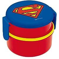 スケーター 丸型 ランチボックス 500ml 弁当箱 フォーク付 スーパーマン ONWR1