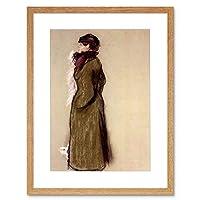 Painting Degas Portrait Ellen Andree Framed Wall Art Print