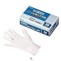 ダンロップ ニトリル極うす手袋 (粉なし) NS470 (100枚入) L 全長24cm <白>