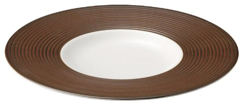 乳白 シェンナ 27cm ディープ皿