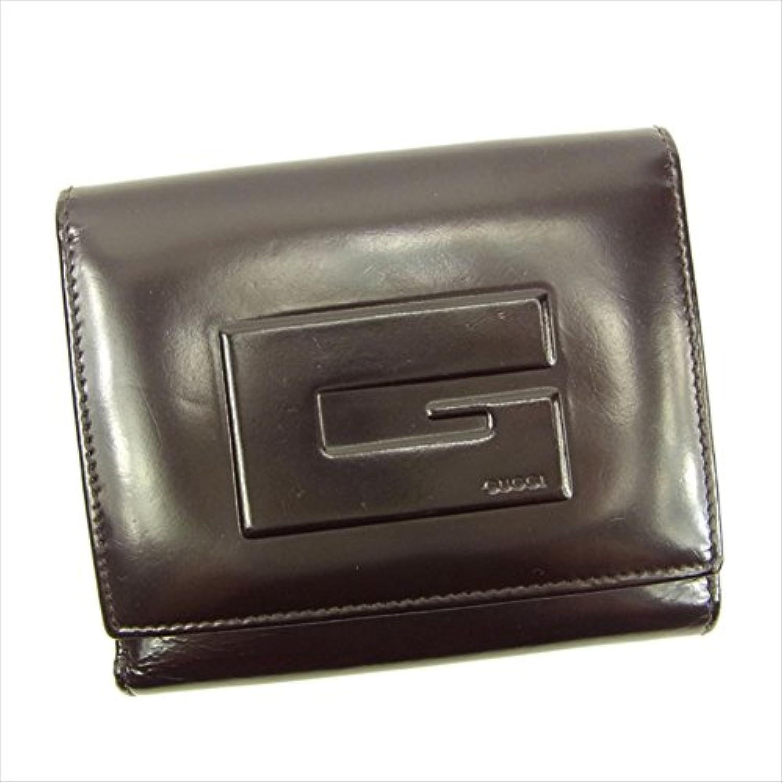 グッチ Gucci Wホック財布 Gマーク 中古 Y5266