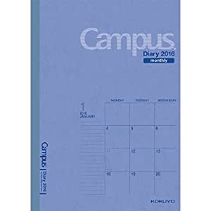 コクヨ 手帳 2016年 キャンパスダイアリー マンスリー A5 ブルー ニ-C103-16
