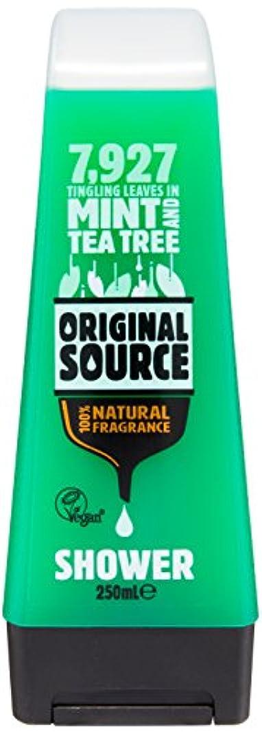 カーテン疼痛郵便Original Source Mint and Tea Tree Shower Gel 250 Ml by Original Source