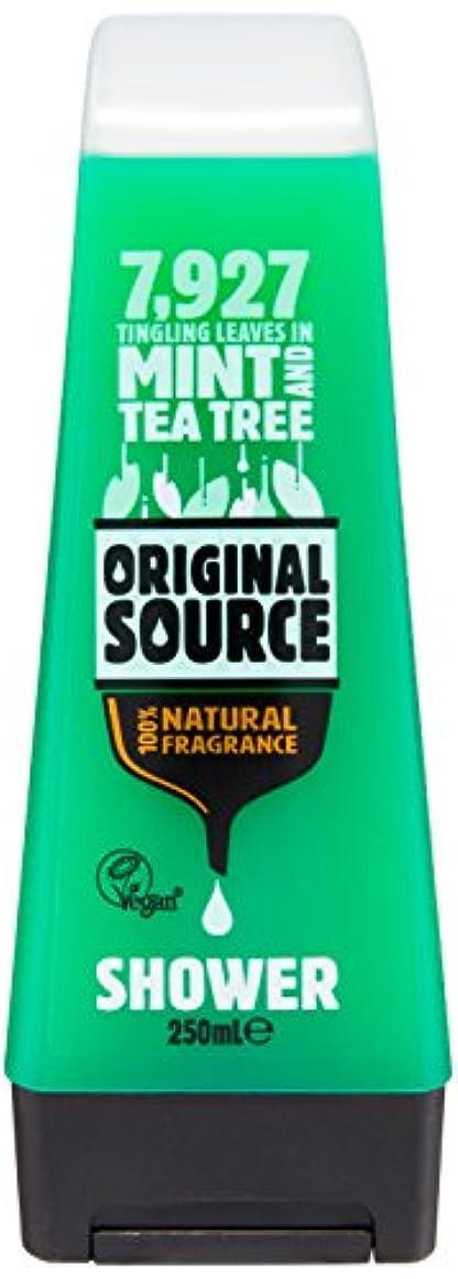 脅威確認プレートOriginal Source Mint and Tea Tree Shower Gel 250 Ml by Original Source